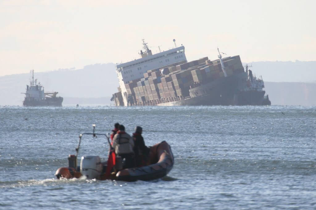 Sunk Container Ship